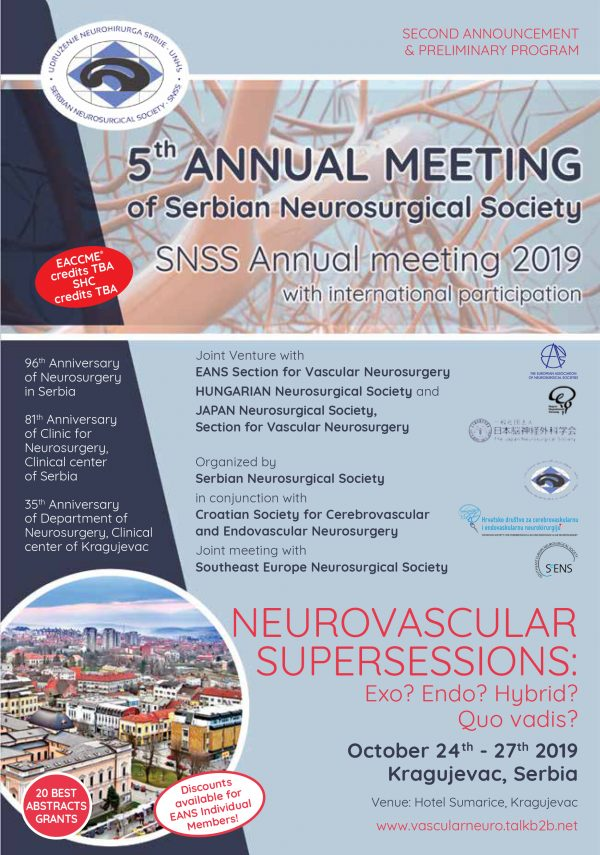 SNSS Annual Meeting: 24-27/10, 2019, Serbia