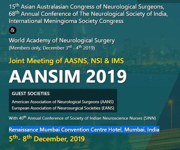 Joint Meeting of AASNS, NSI & IMS AANSIM | 5th- 8th December, 2019