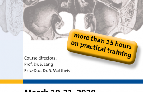 10th Interdisciplinary Endoscopic Skull Base Surgery Course ∞ Essen, Germany ∞ 19 – 21 March 2020